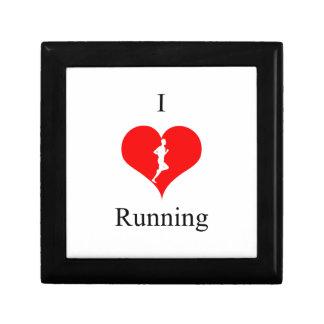 健康のフィットネスを走っている私はハートを愛します ギフトボックス