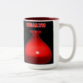 健康の一服のマグ ツートーンマグカップ