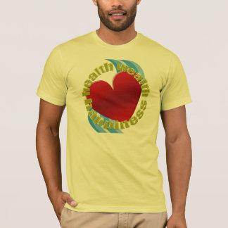 健康の富の幸福 Tシャツ