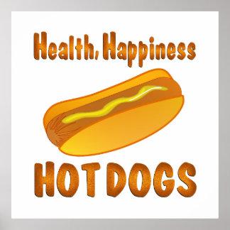 健康の幸福のホットドッグ ポスター