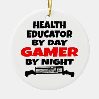 健康の教育者のゲーマー セラミックオーナメント