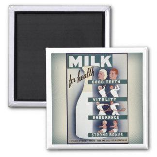 健康の磁石のためのWPAのミルク マグネット