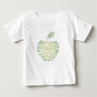 健康の緑の環境にやさしい ベビーTシャツ