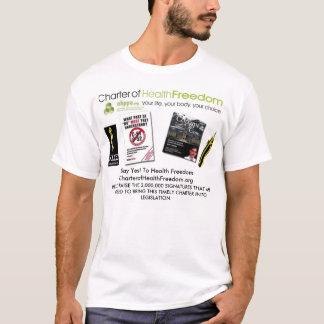 健康の自由のチャーター Tシャツ