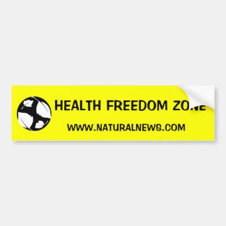 健康の自由の地帯のステッカー バンパーステッカー