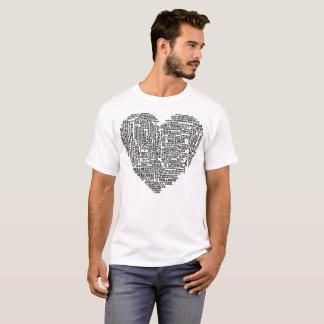 健康ハートV.2のタイポグラフィのTシャツ Tシャツ