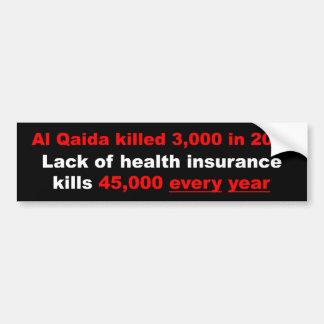 健康保険の改良のバンパーステッカー バンパーステッカー