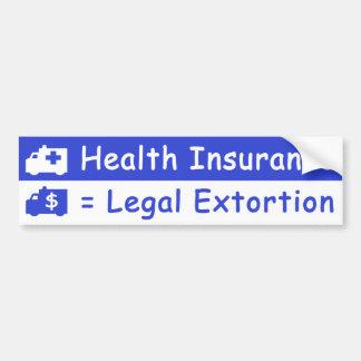 健康保険は法律化された強要です バンパーステッカー