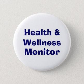 健康及び健康のモニター 缶バッジ