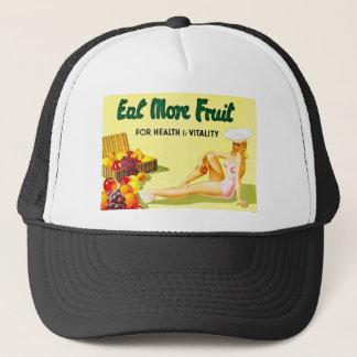 健康及び活力-ヴィンテージのためのより多くのフルーツを食べて下さい キャップ