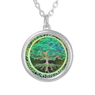 健康生命の樹 シルバープレートネックレス