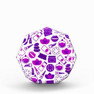 健康色彩の鮮やかなアイコンが付いている創造的な版 表彰盾
