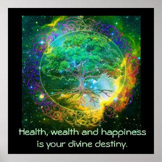 健康、富及び幸福 ポスター