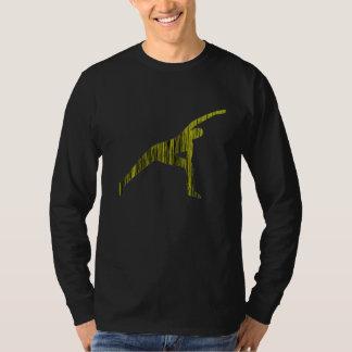 側面のくねり-長袖のヨガのワイシャツ(人) Tシャツ