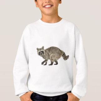 側面のプロフィールのアライグマ スウェットシャツ