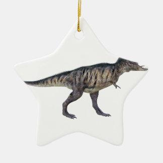 側面のプロフィールのティラノサウルス・レックスのレックス セラミックオーナメント