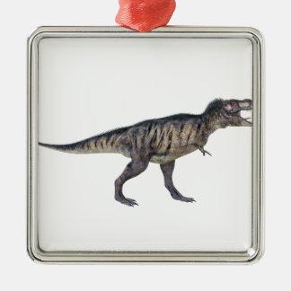 側面のプロフィールのティラノサウルス・レックスのレックス メタルオーナメント