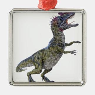 側面のプロフィールのCryolophosaurus メタルオーナメント