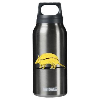 側面の黒のストライプを持つ黄色か金アルマジロ 断熱ウォーターボトル