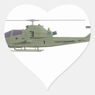 側面図のプロフィールのアパッシュのヘリコプター ハートシール