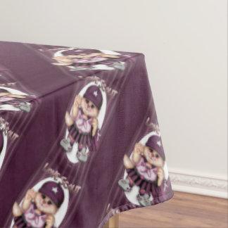 """偵察者CATの女の子のテーブルクロスのバレンタイン60"""" x104 """" テーブルクロス"""
