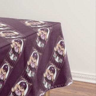 """偵察者CATの女の子のテーブルクロスのバレンタイン60"""" x84 """" テーブルクロス"""