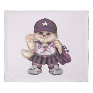 偵察者CATの女の子愛クイーンサイズの羽毛布団カバー2 掛け布団カバー
