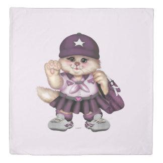 偵察者CATの女の子愛クイーンサイズの羽毛布団カバー 掛け布団カバー