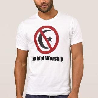 偶像崇拝のイスラム教の記号無し Tシャツ