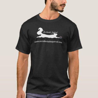 偶然のリスのロゴのティー Tシャツ