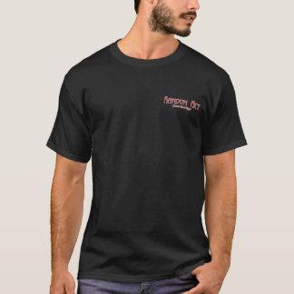 偶然の事故の赤前部か背部デザイン Tシャツ