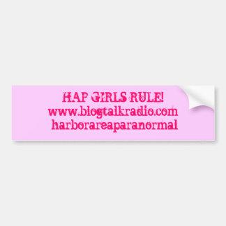 偶然の女の子の規則! www.blogtalkradio.com/harborarea..。 バンパーステッカー