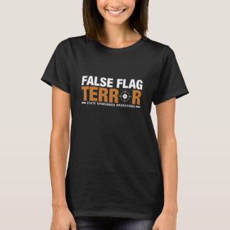 偽の旗の恐怖の女性のTシャツ Tシャツ