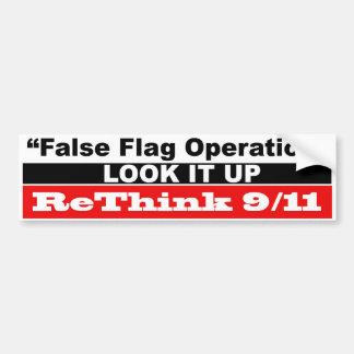 偽の旗操作 バンパーステッカー