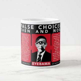 偽の選択のマグ-プライバシー対保証 ジャンボコーヒーマグカップ