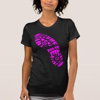 偽ステップロゴのティーのピンク Tシャツ