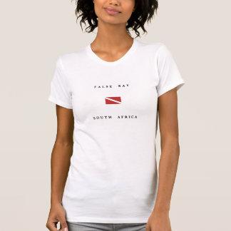 偽湾の南アフリカ共和国のスキューバ飛び込みの旗 Tシャツ