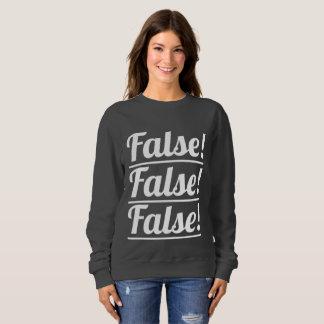 偽! 三重のロゴの女性の基本的なスエットシャツ スウェットシャツ