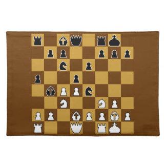 傑作のチェス ランチョンマット