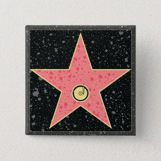 傑作のハリウッド・スター 5.1CM 正方形バッジ