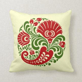 傑作のハンガリーのパプリカの花の刺繍 クッション