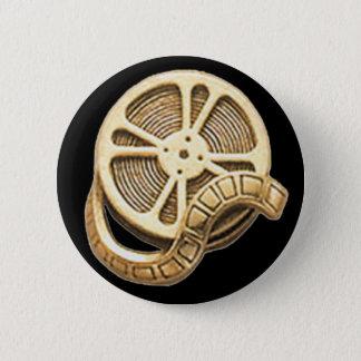 傑作の金ゴールドのフィルム巻き枠 缶バッジ