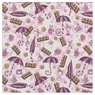 傘およびチョコレート ファブリック