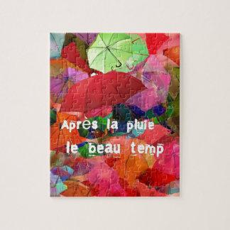 傘およびフランスのな諺 ジグソーパズル