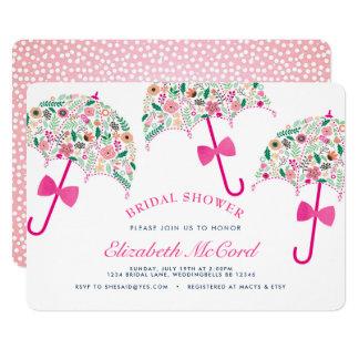傘のブライダルシャワーの招待状 カード
