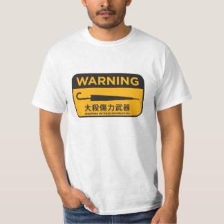 傘の改革の雨傘革命-危險兵器のティー Tシャツ