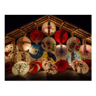 傘の日本人カード ポストカード