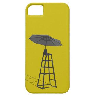 傘のIphoneの場合が付いているライフガードの椅子 iPhone SE/5/5s ケース