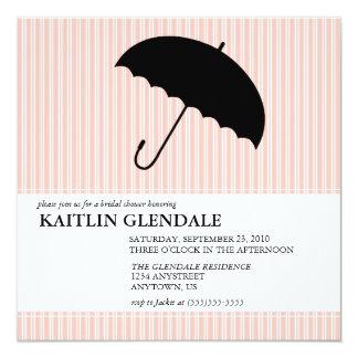 傘を持つブライダルシャワーの招待状 カード
