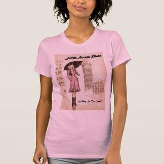 傘を持つ女性 Tシャツ